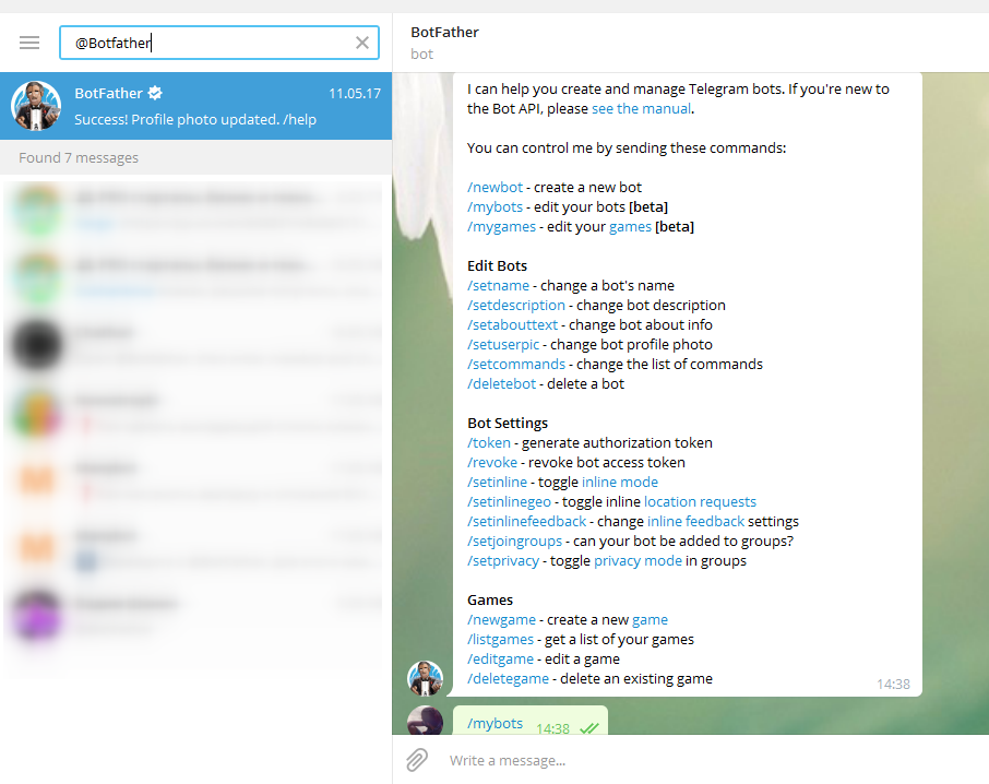 Calls notifications in Telegram via PostBack - Marketcall